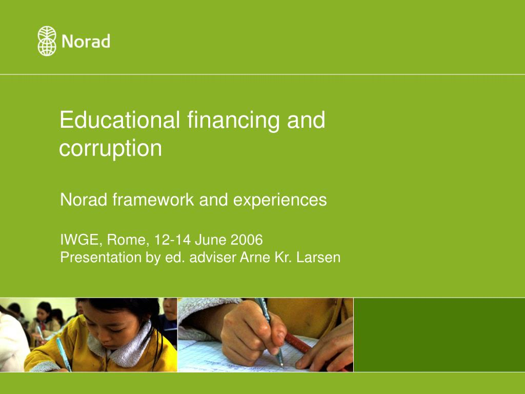 educational financing and corruption l.