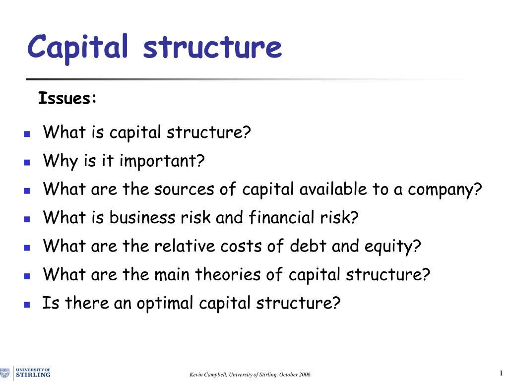 capital structure l.