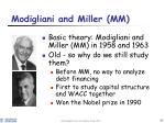 modigliani and miller mm
