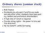 ordinary shares common stock