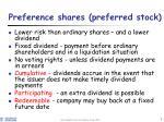 preference shares preferred stock