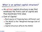 what is an optimal capital structure