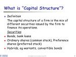 what is capital structure
