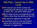 well plats casual use on sma lands