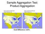 sample aggregation test product aggregation