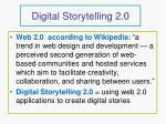 digital storytelling 2 0