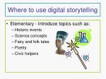 where to use digital storytelling