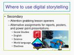 where to use digital storytelling8