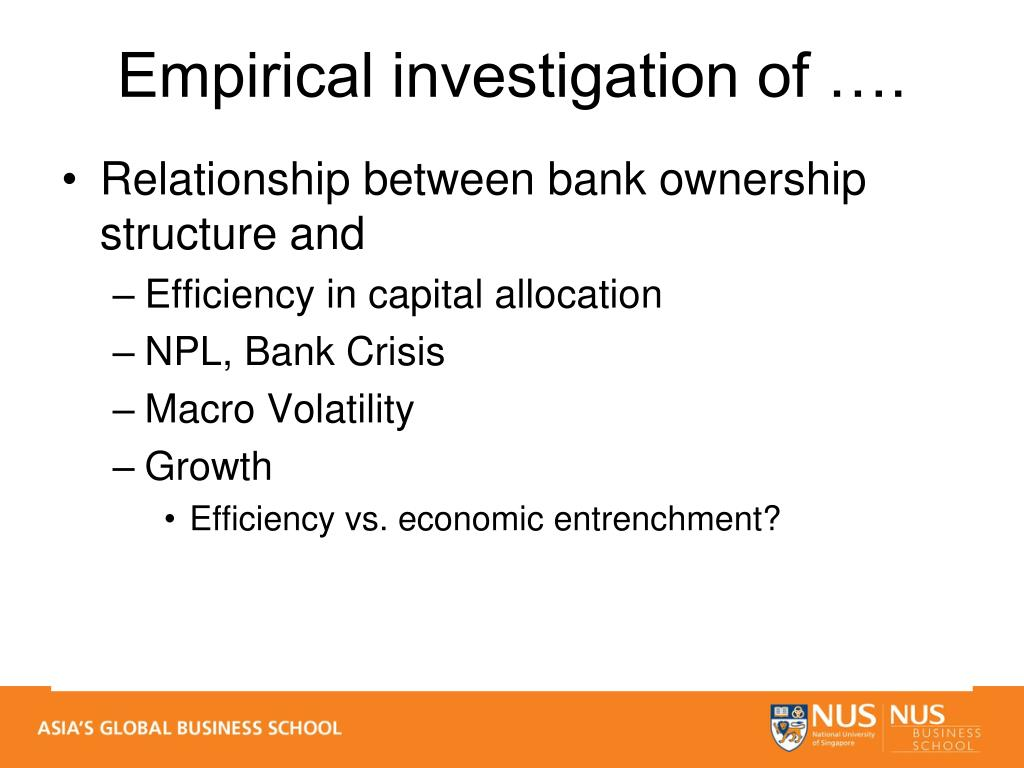 Relationship between bank ownership structure and