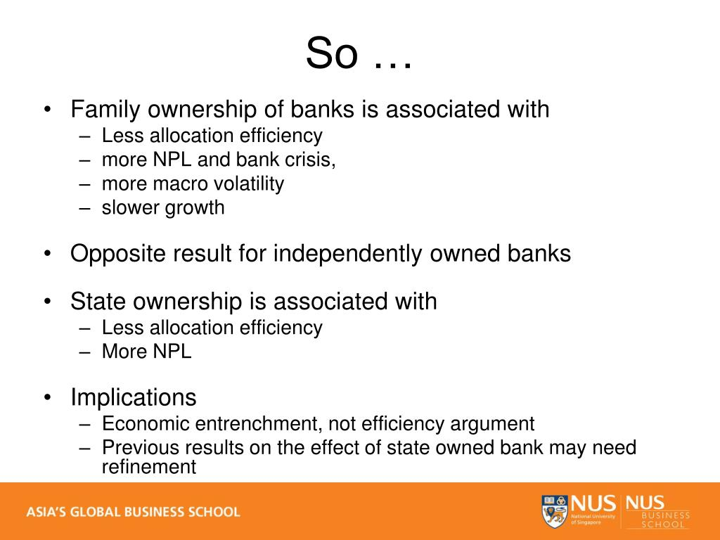 Family ownership of banks is associated with