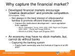 why capture the financial market