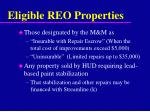 eligible reo properties
