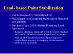 lead based paint stabilization