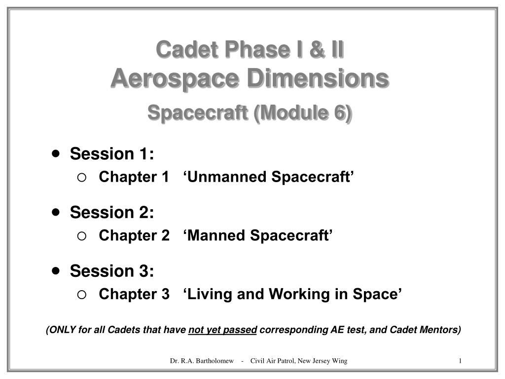 cadet phase i ii aerospace dimensions spacecraft module 6 l.