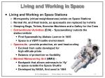 living and working in space15