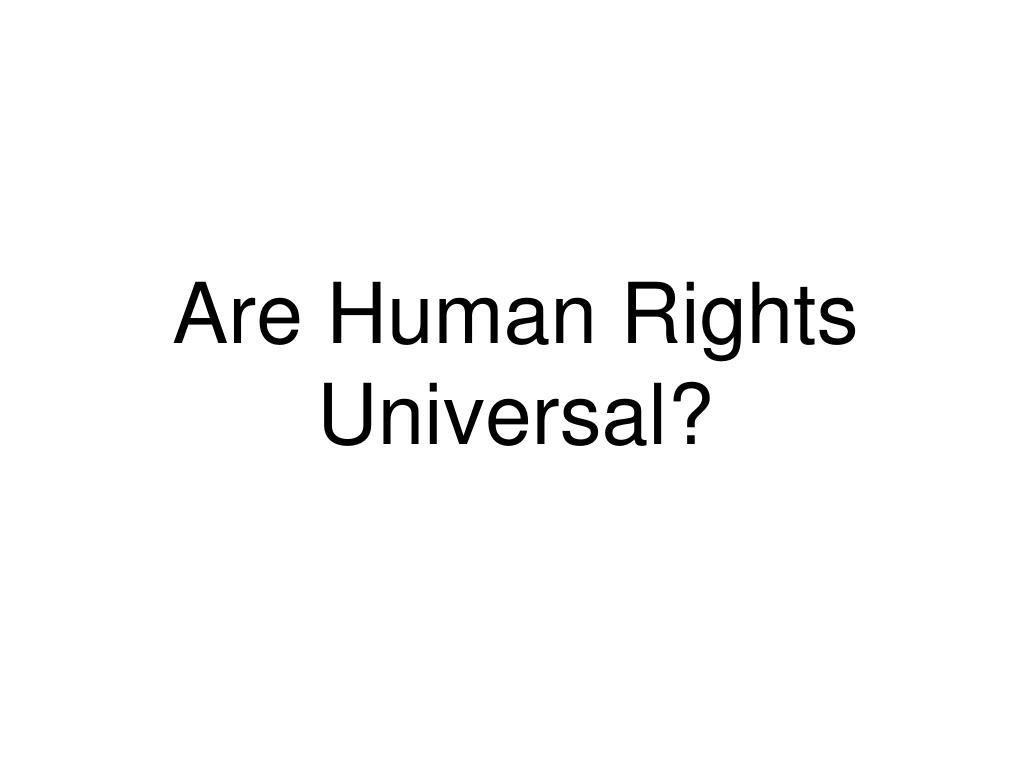 Are Human Rights Universal?