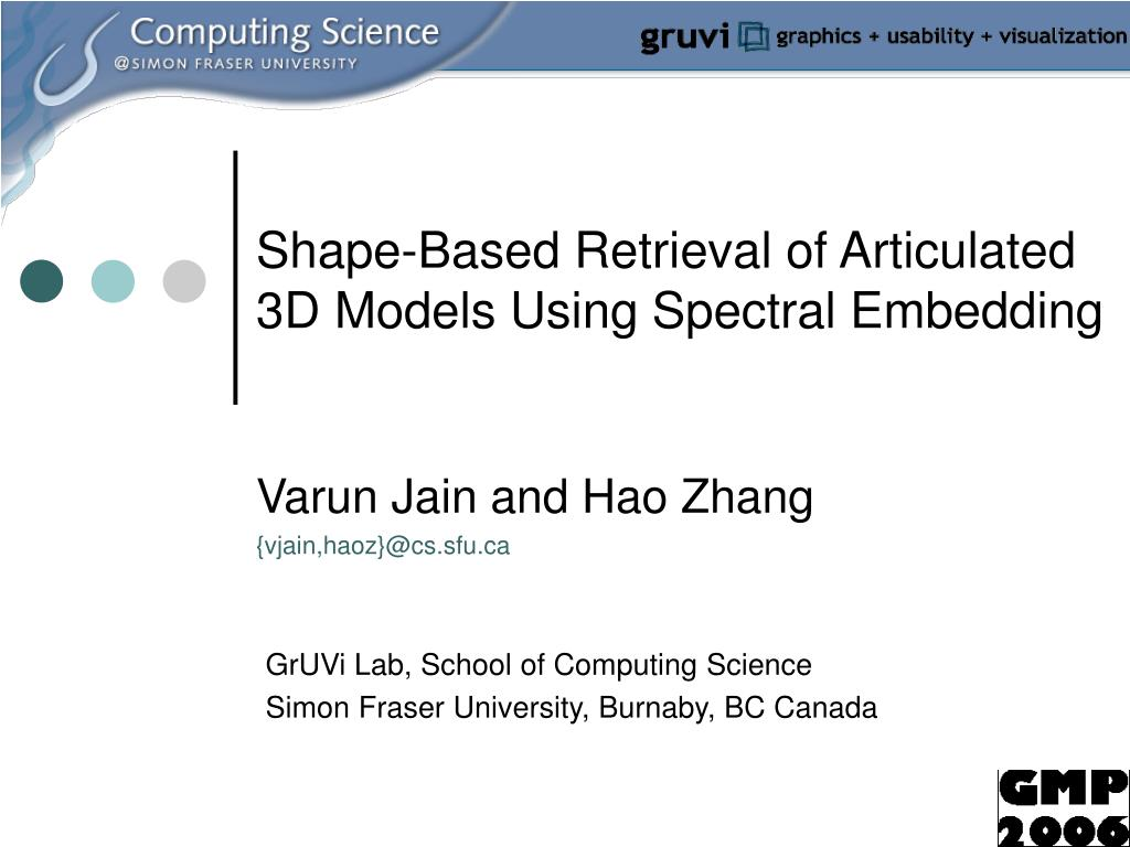 shape based retrieval of articulated 3d models using spectral embedding l.