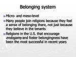 belonging system