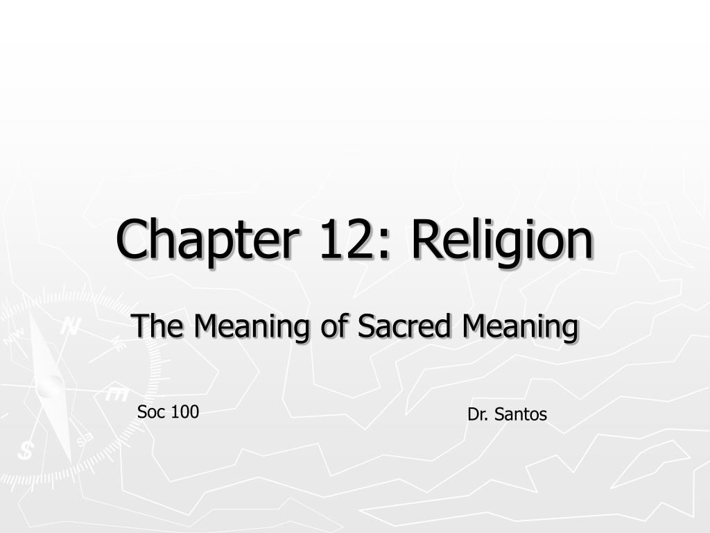 chapter 12 religion l.