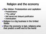 religion and the economy