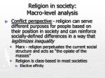 religion in society macro level analysis22