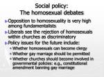 social policy the homosexual debates