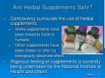 are herbal supplements safe