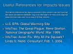 useful references for impacts issues