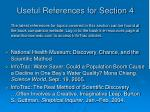 useful references for section 4