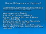 useful references for section 6