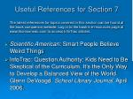 useful references for section 7