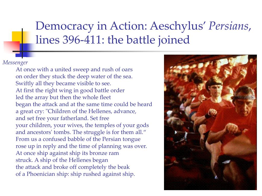 Democracy in Action: Aeschylus'