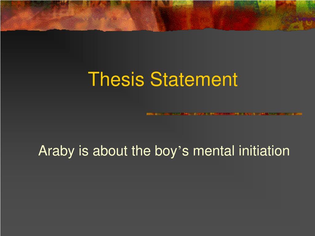 thesis statement l.