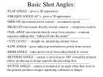 basic shot angles
