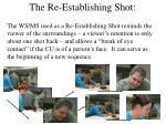 the re establishing shot