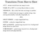 transitions from shot to shot
