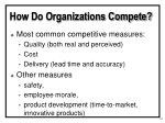 how do organizations compete