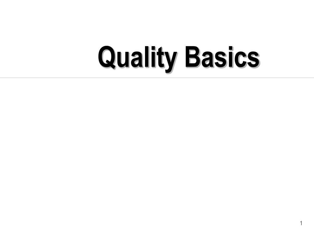 quality basics l.