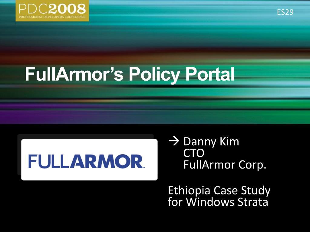fullarmor s policy portal l.