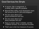 good services are simple