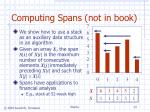 computing spans not in book