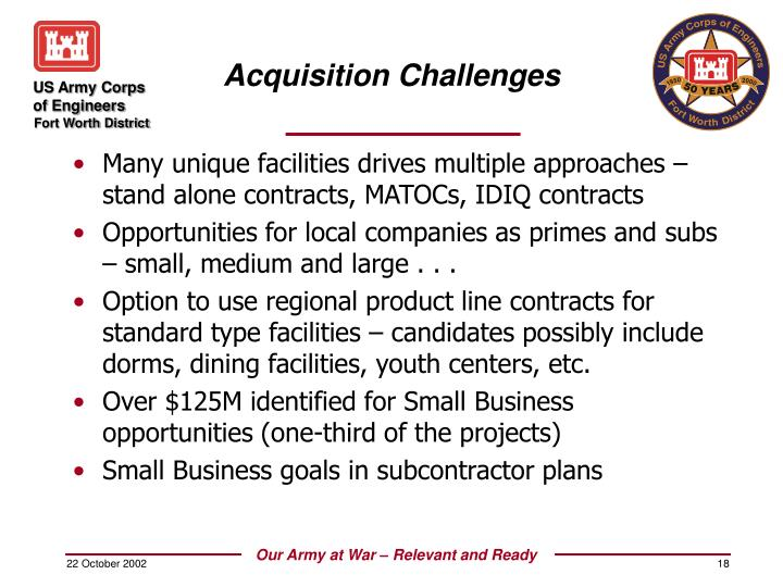 PPT Fort Worth District Military Construction Program