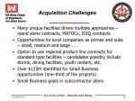 acquisition challenges
