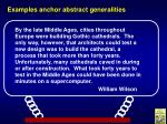 examples anchor abstract generalities