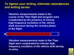 to tighten your writing eliminate redundancies and writing zeroes