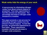 weak verbs hide the energy of your work