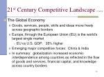 21 st century competitive landscape cont d10