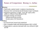 nature of competition boeing vs airbus