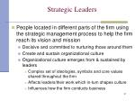 strategic leaders