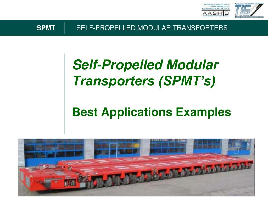 self propelled modular transporters spmt s best applications examples l.